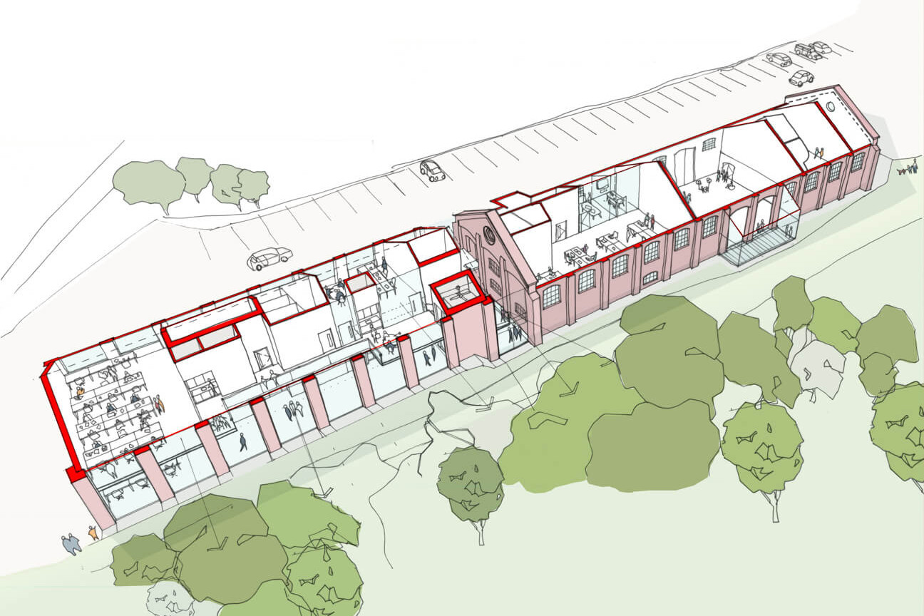 Artists impression of the Freight House project