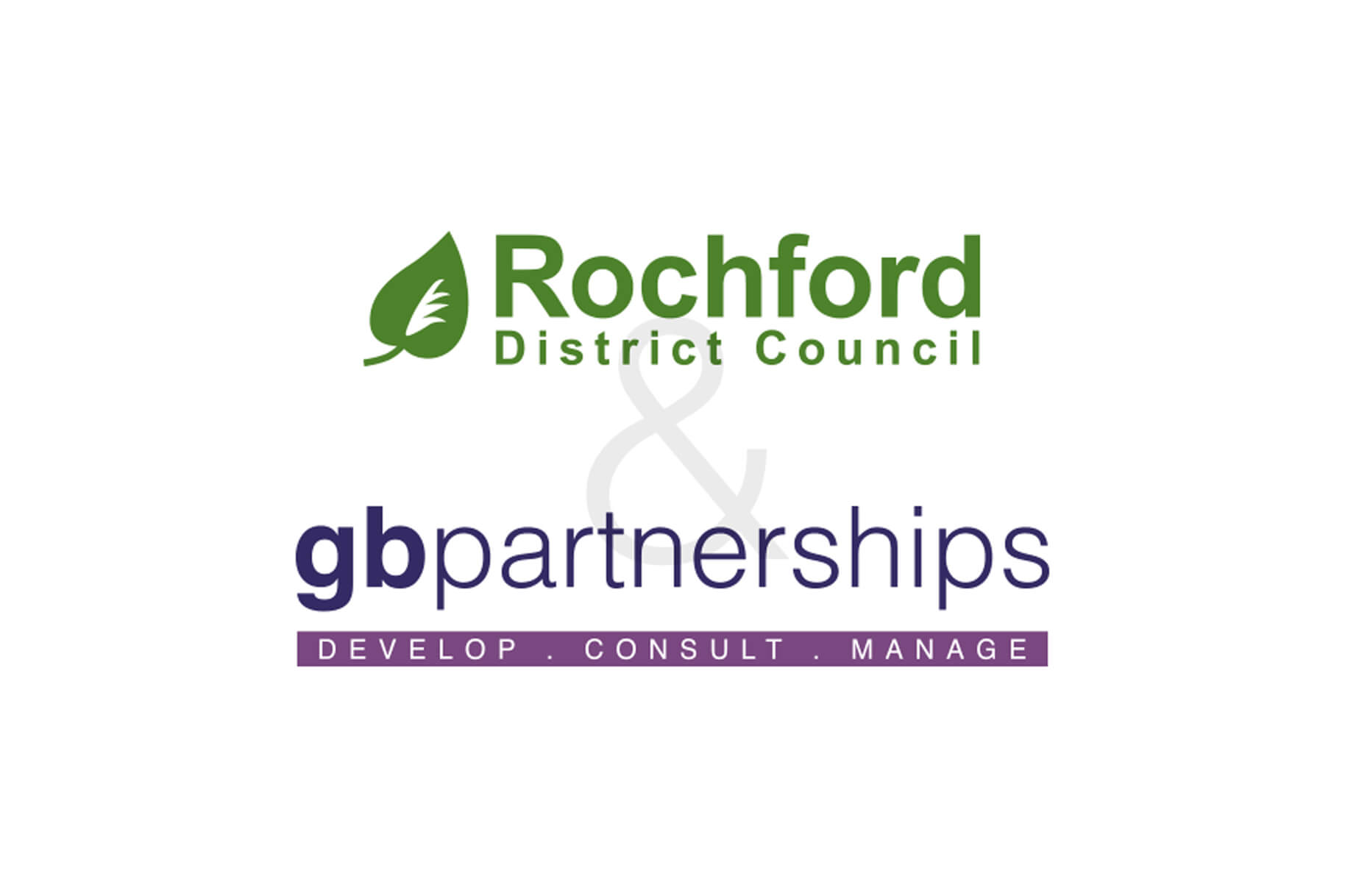 the rochford district council and gbpartnerships logos
