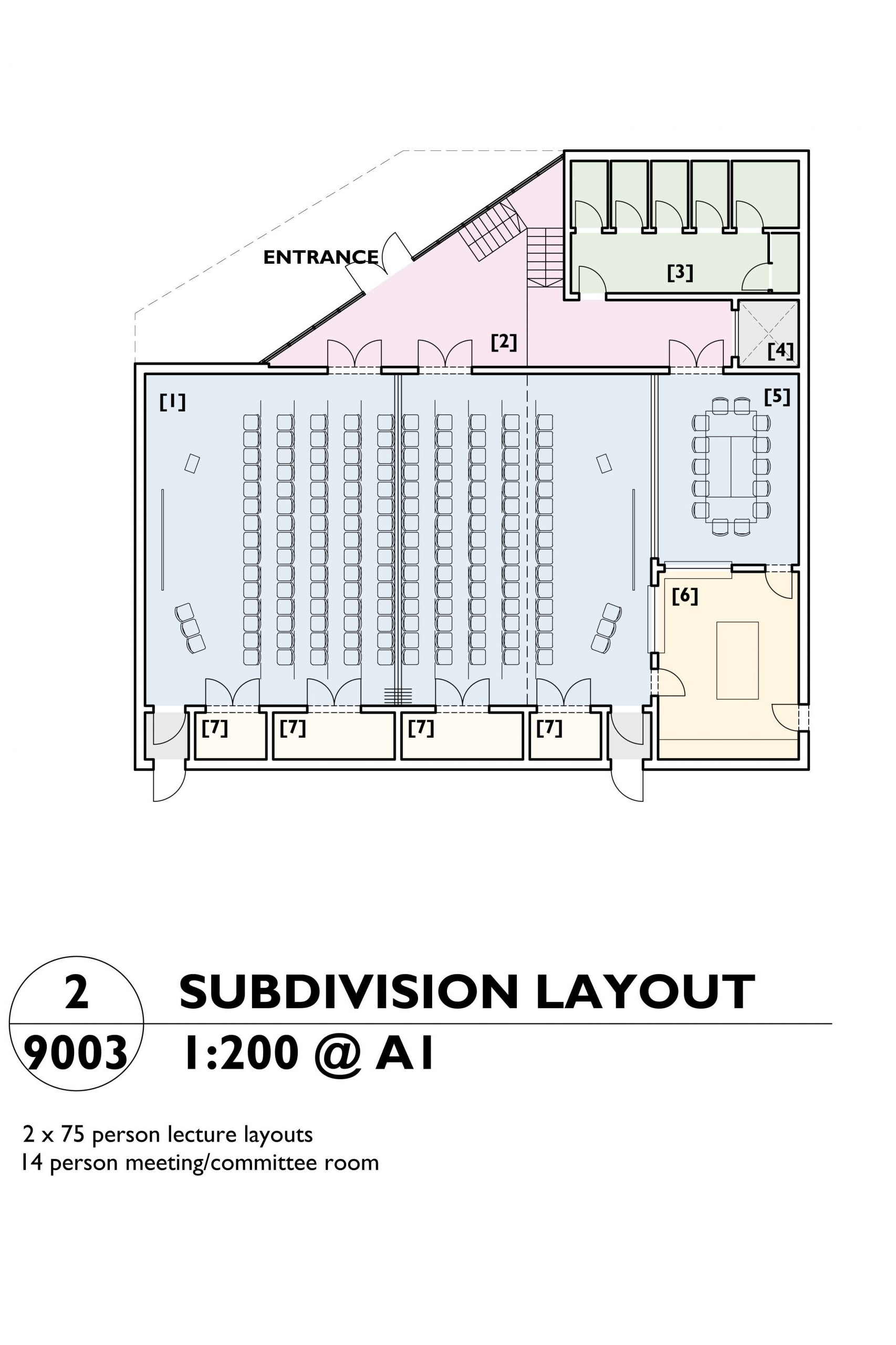 Image showing the sub-division layout plan of the Mill Arts Centre