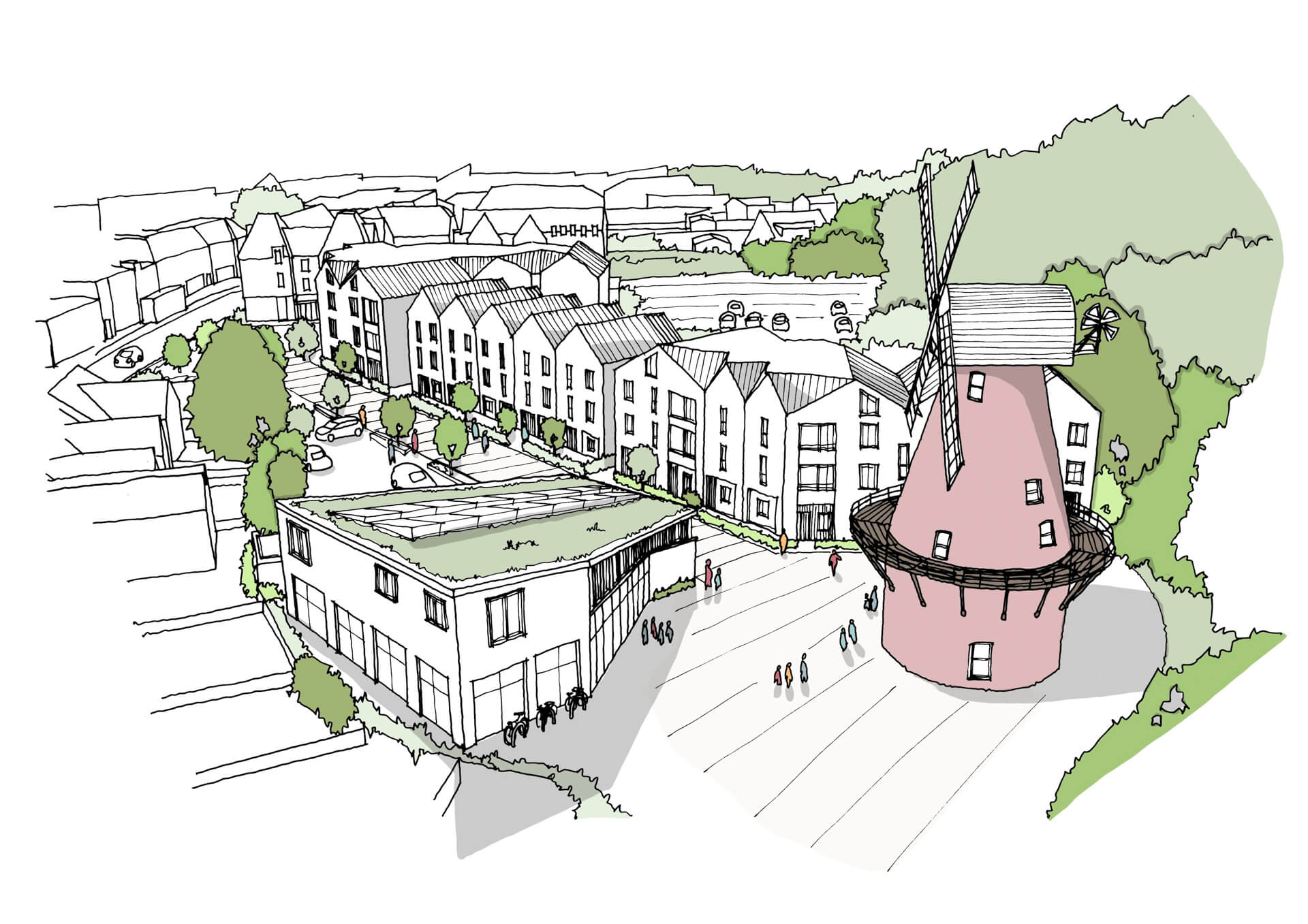 Artists impression of the Mill Community Centre project